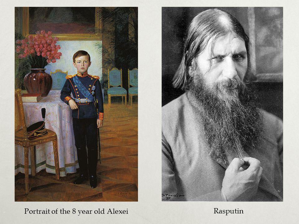 Portrait of the 8 year old Alexei Rasputin
