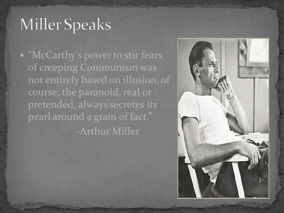 """McCarthy's power to stir fears of creeping Communism was not entirely based on illusion, of course; the paranoid, real or pretended, always secretes"