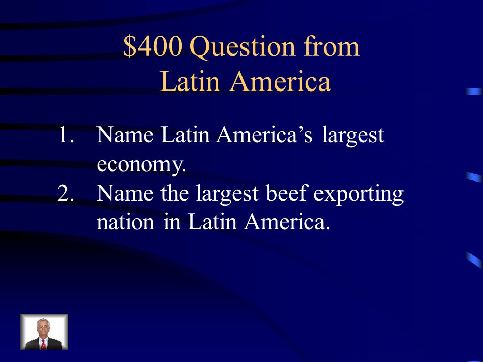 $300 Answer 1.Cuba 2.The Cuban Revolution