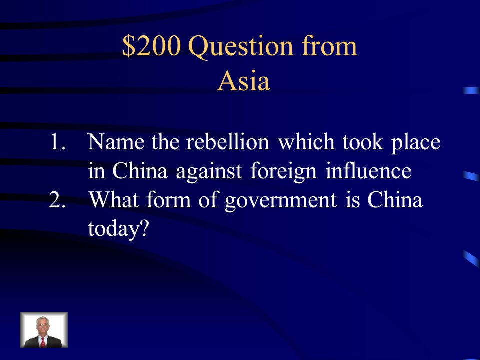 $100 Answer Communist leader of Vietnam who led his For independence against the French and in The Vietnam War against the United States