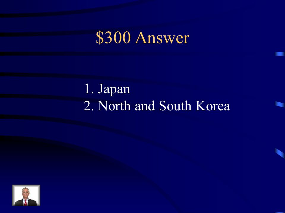 $300 Question from Asia 1.What nation did the Meiji Restoration take place in.