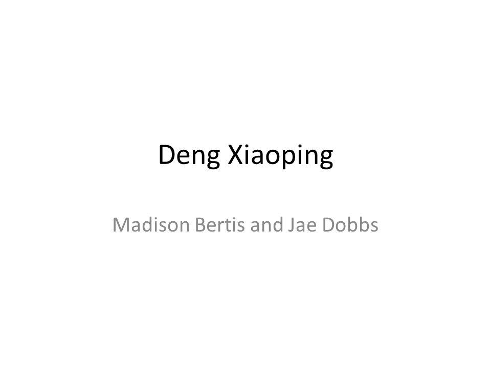 Deng Xiaoping Madison Bertis and Jae Dobbs