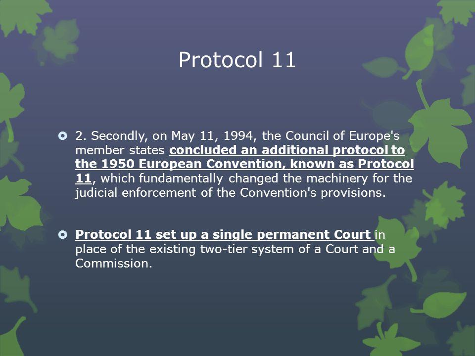 Protocol 11  2.