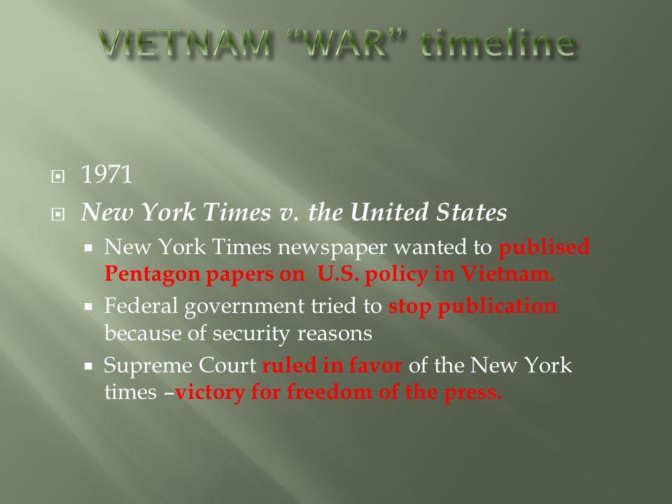  1971  New York Times v.