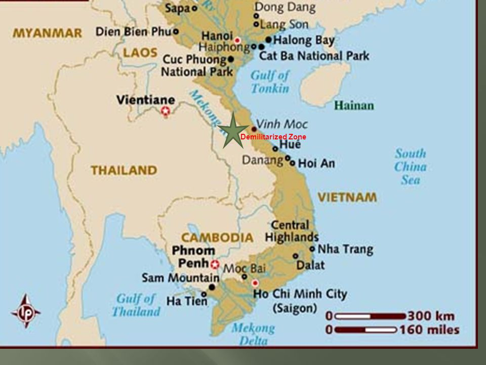  1950  President Truman gives $10 million in aid to the French fighting the communist Vietnamese forces led by Ho Chi Minh  1954  French lose the war, Vietnam split in half at 17 th parallel.