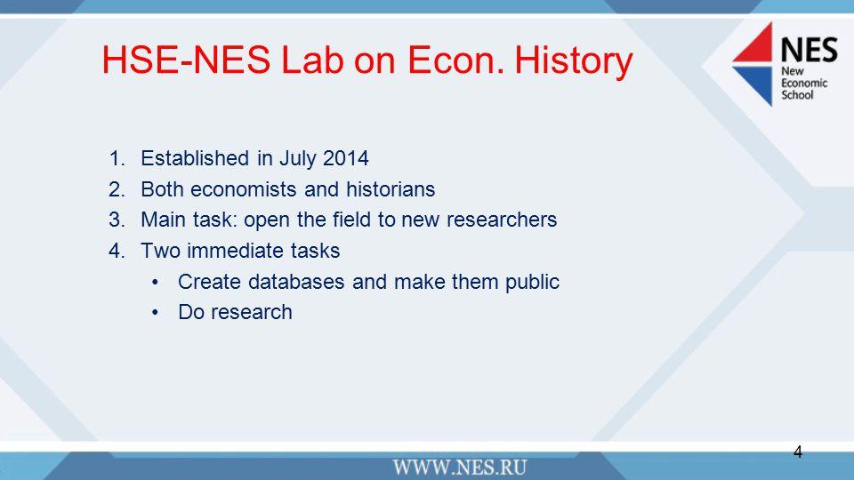 HSE-NES Lab on Econ.
