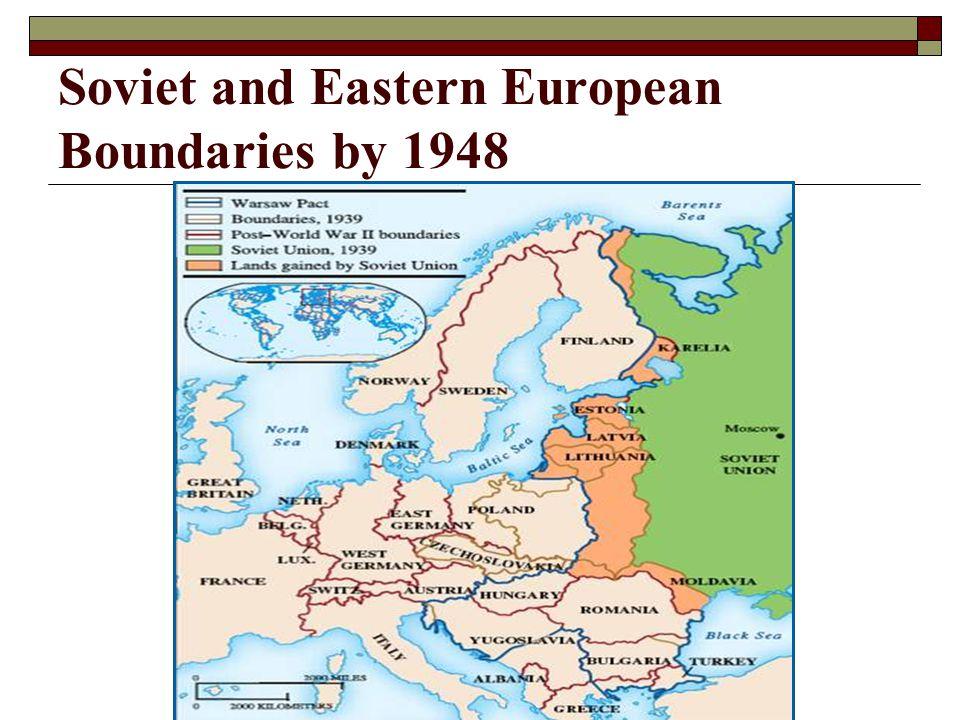 Soviet and Eastern European Boundaries by 1948