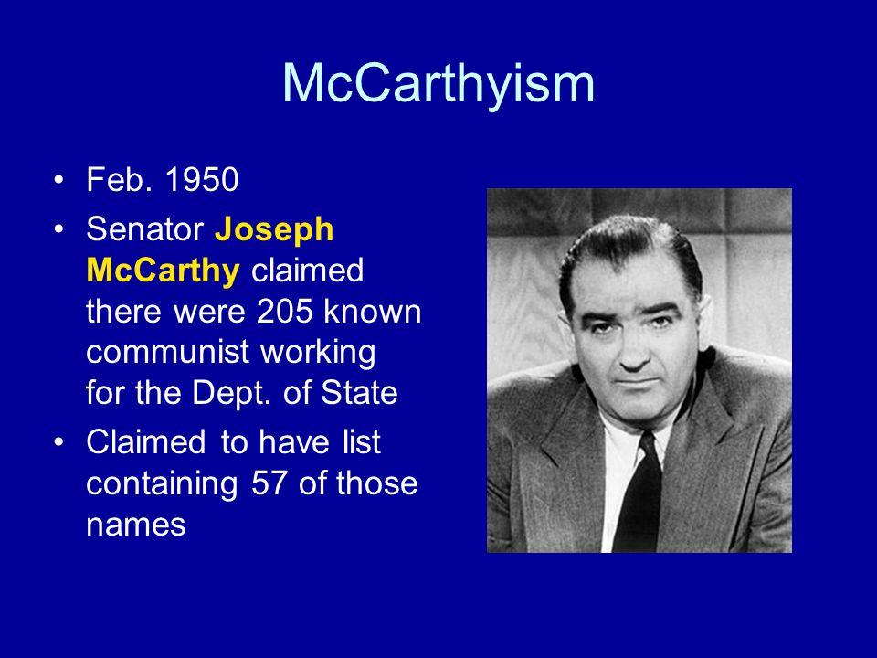 McCarthyism Feb.