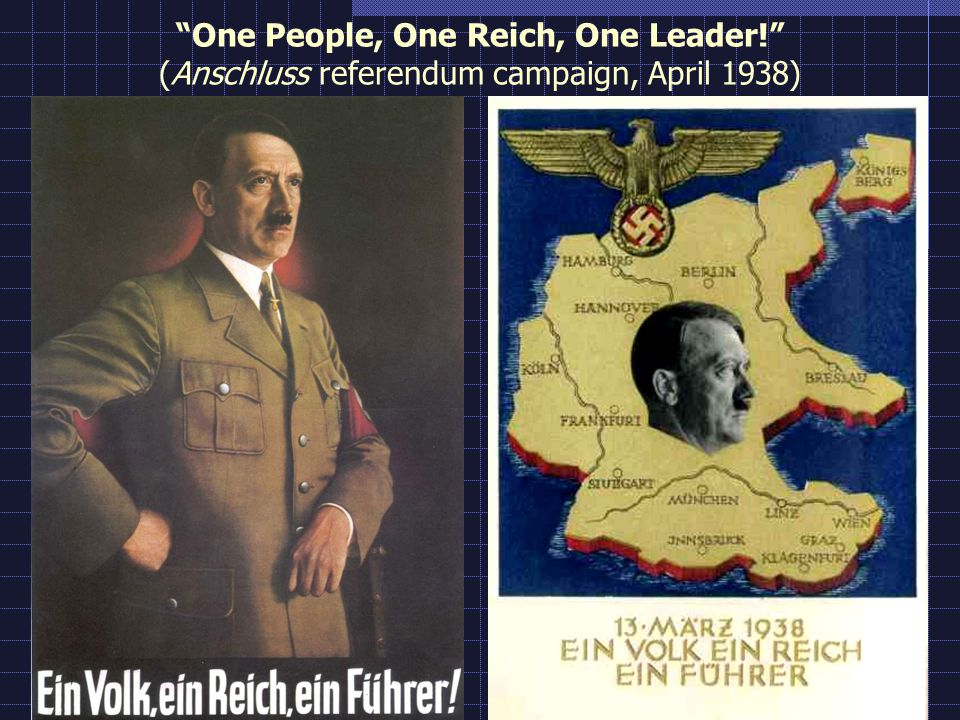 One People, One Reich, One Leader! (Anschluss referendum campaign, April 1938)