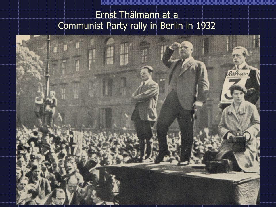 Ernst Thälmann at a Communist Party rally in Berlin in 1932