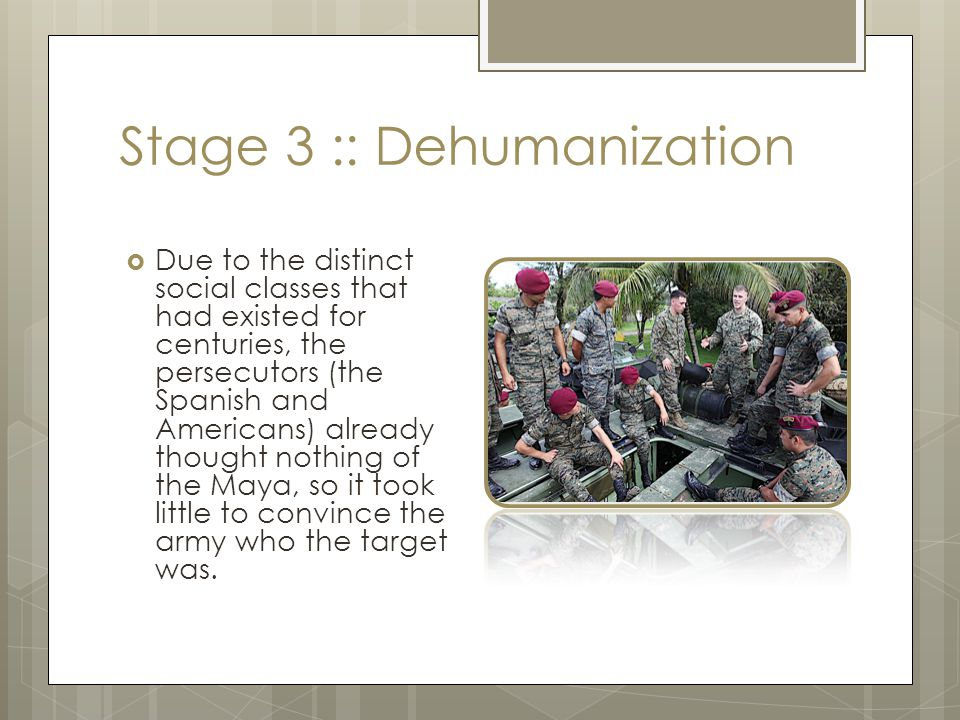 Stage 4 :: Organization  The CIA was the mastermind organizing and training the Guatemalan Government Forces with the intent of putting a capitalist regime in place.