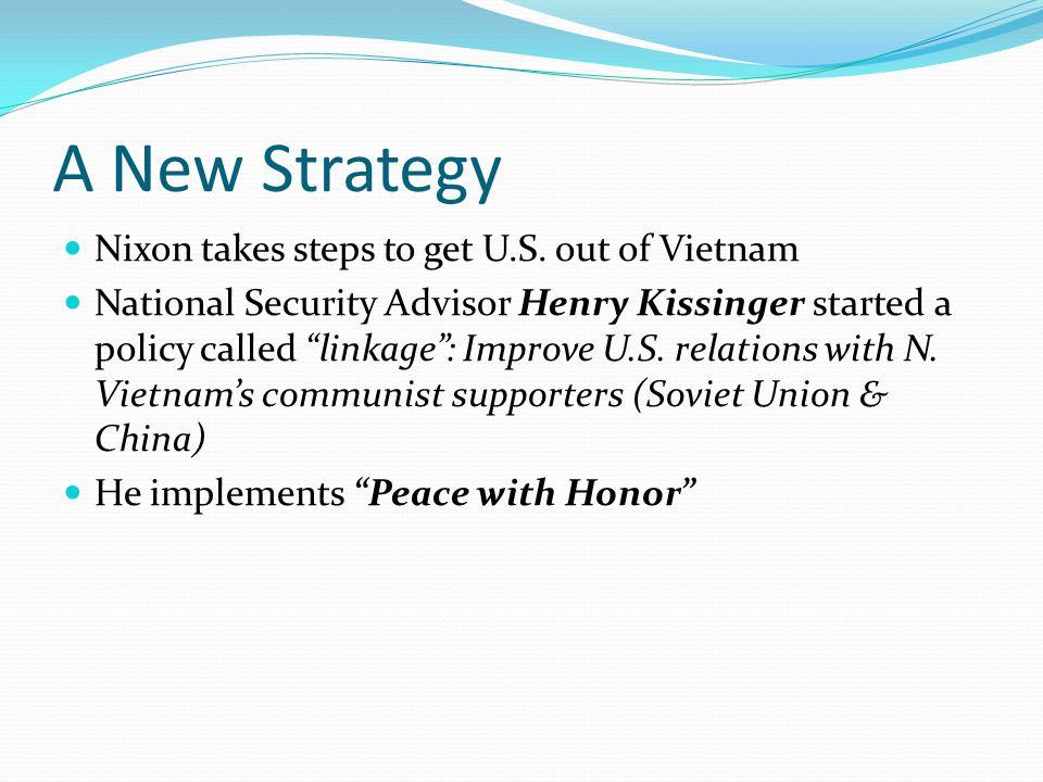 A New Strategy Nixon takes steps to get U.S.