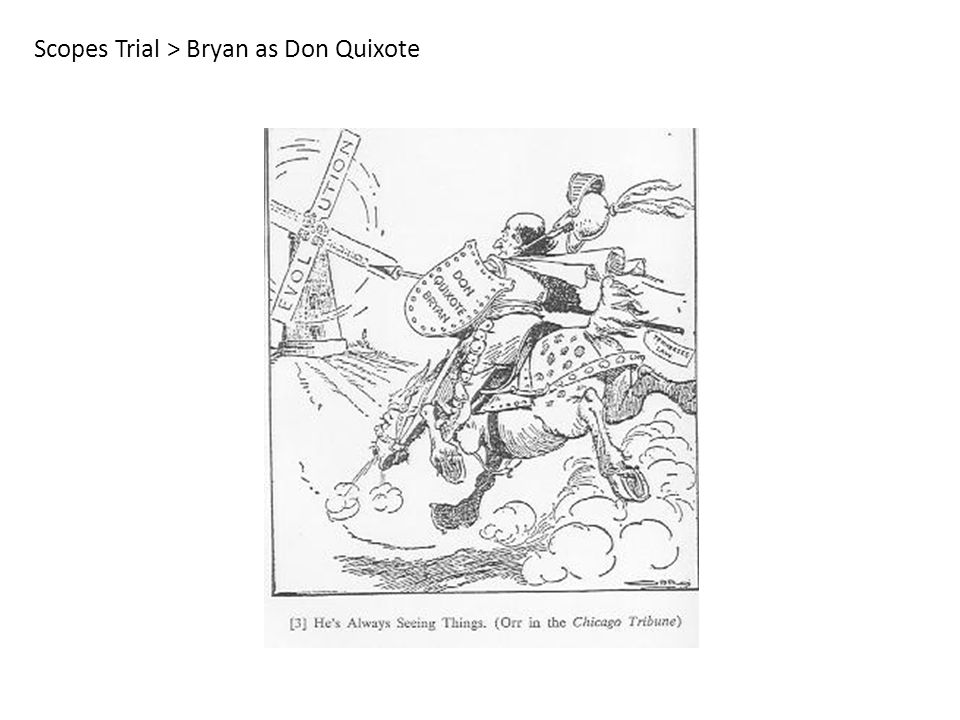 Scopes Trial > Bryan as Don Quixote