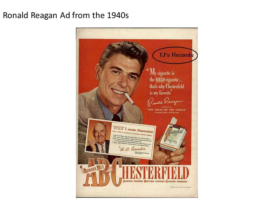 Ronald Reagan Ad from the 1940s