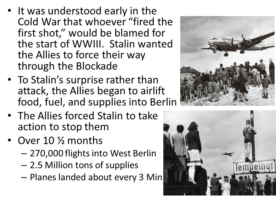 It was understood early in the Cold War that whoever fired the first shot, would be blamed for the start of WWIII.