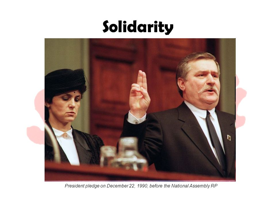 Solidarity President pledge on December 22, 1990, before the National Assembly RP