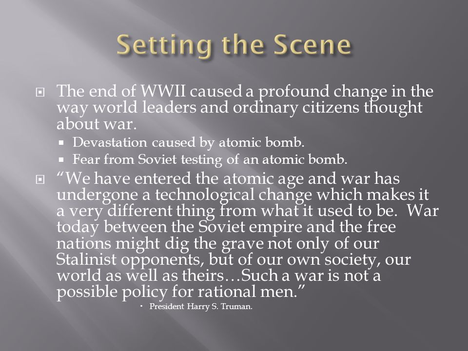  American policy makers determined not to repeat mistakes from WWI.
