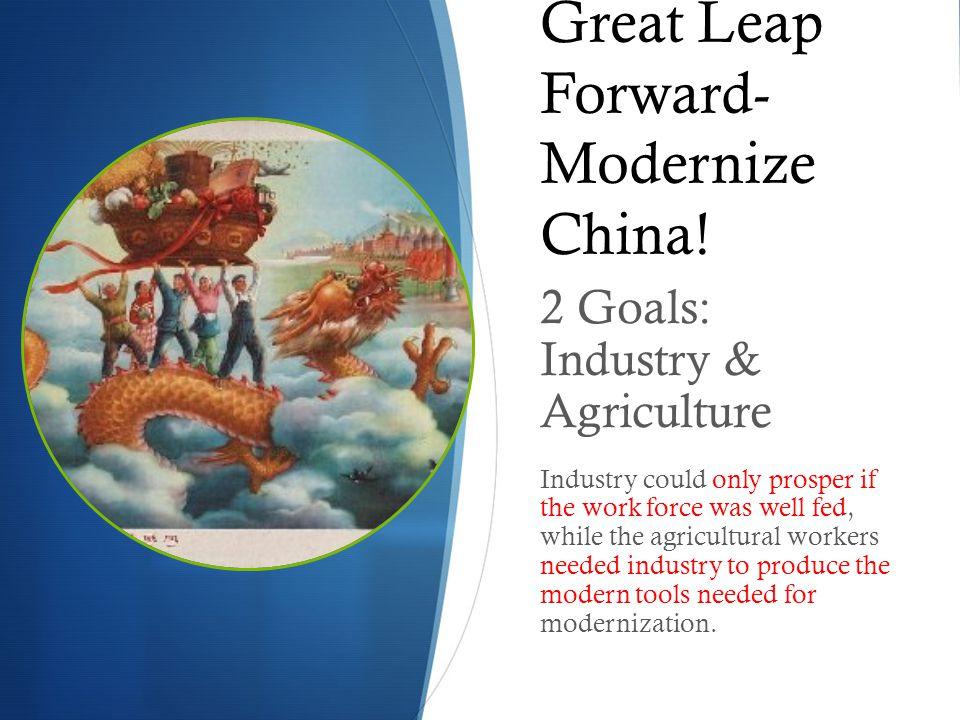 Great Leap Forward- Modernize China.
