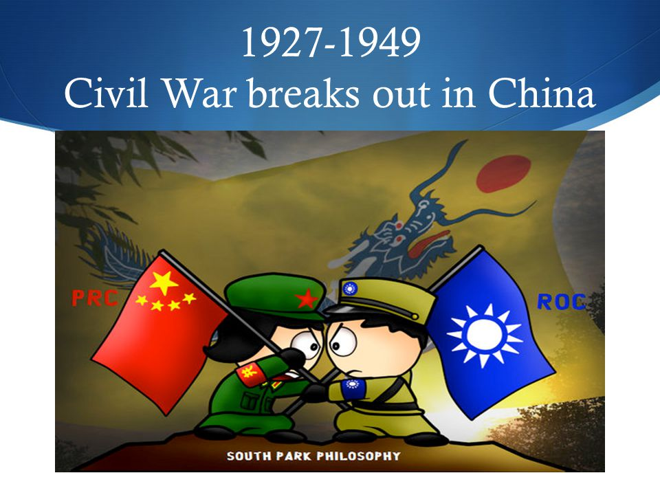 1927-1949 Civil War breaks out in China
