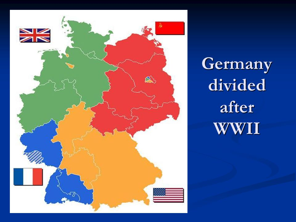 Germany divided after WWII