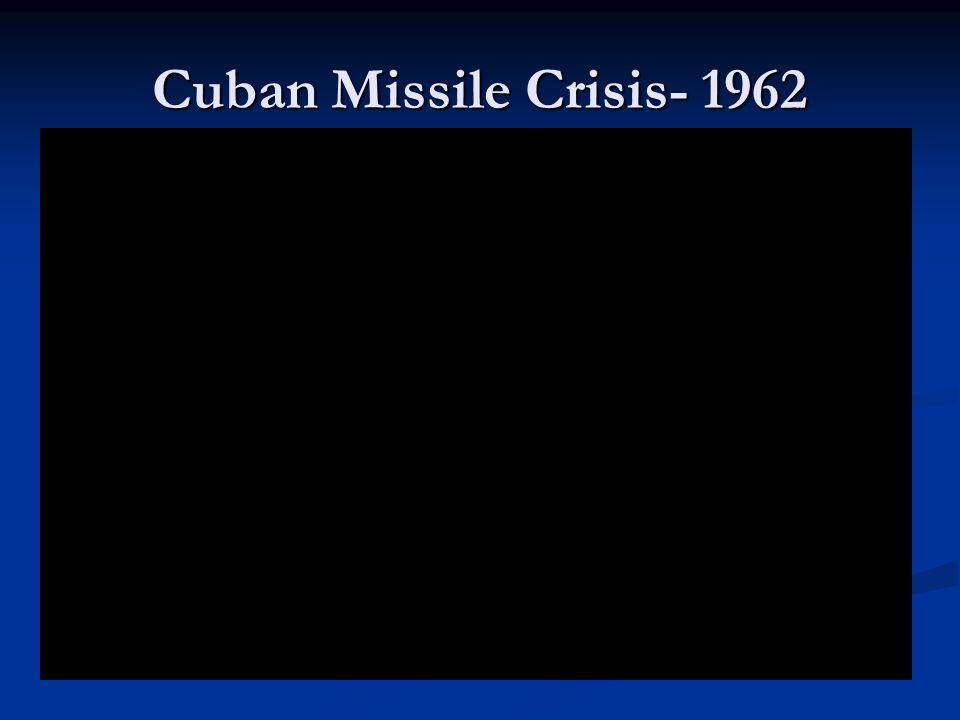 Cuban Missile Crisis- 1962
