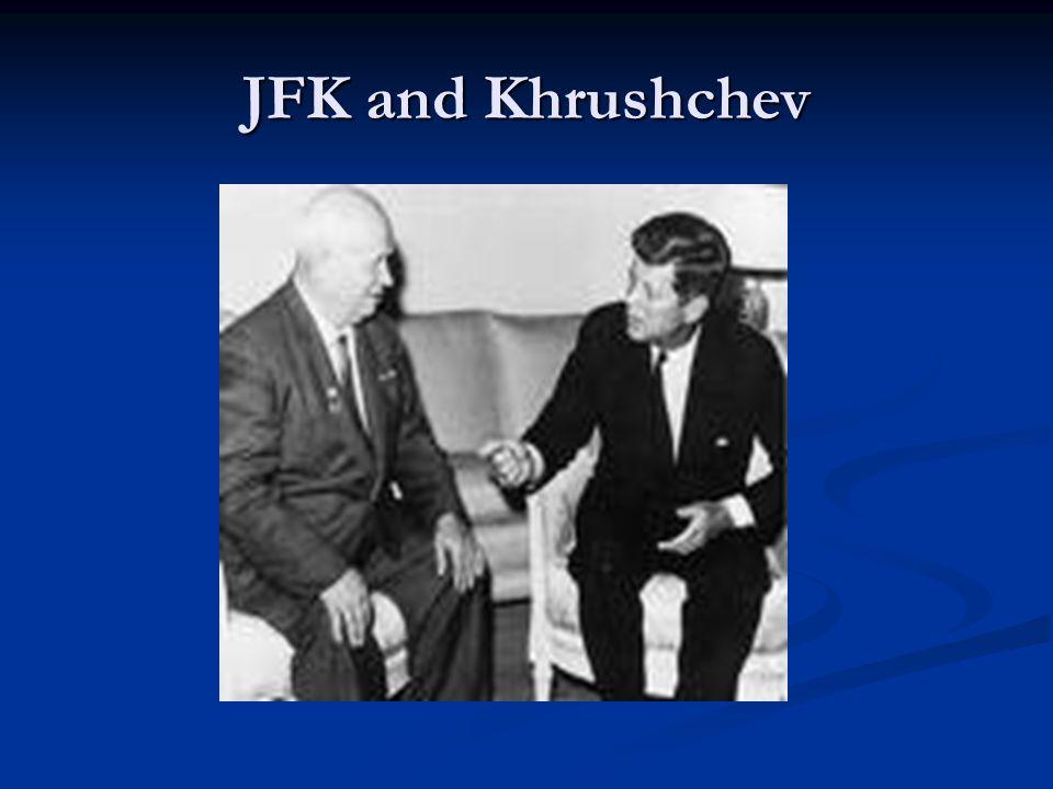 JFK and Khrushchev