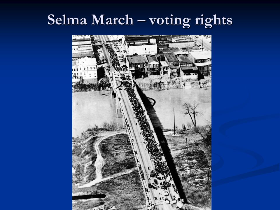 Selma March – voting rights