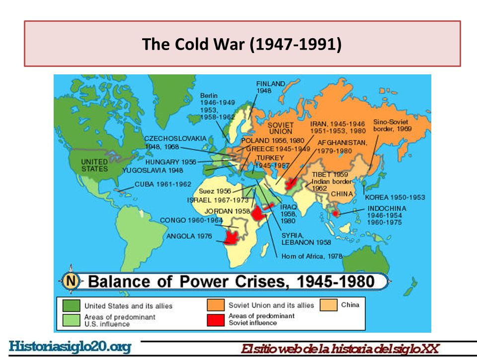 The Cold War (1947-1991) The Cold war was fought in different fronts Political  Democracy/Soviet dictatorship (although Franco was supported by the USA) Economic  Capitalism/Centralized Soviet economy Propaganda  Two ways of life