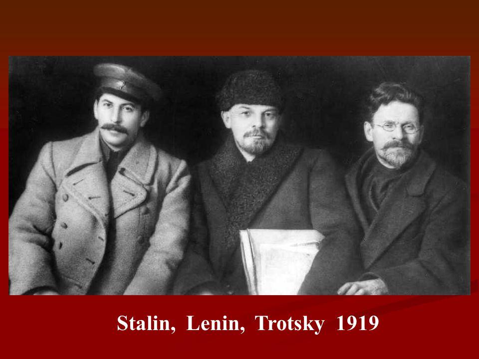 Stalin, Lenin, Trotsky 1919