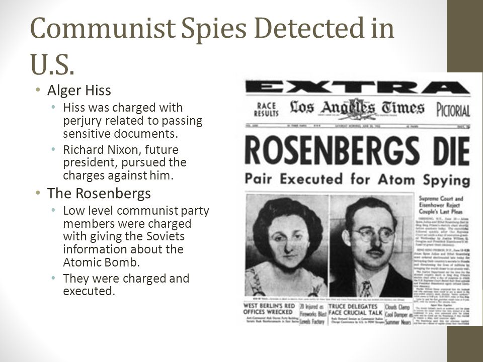Communist Spies Detected in U.S.