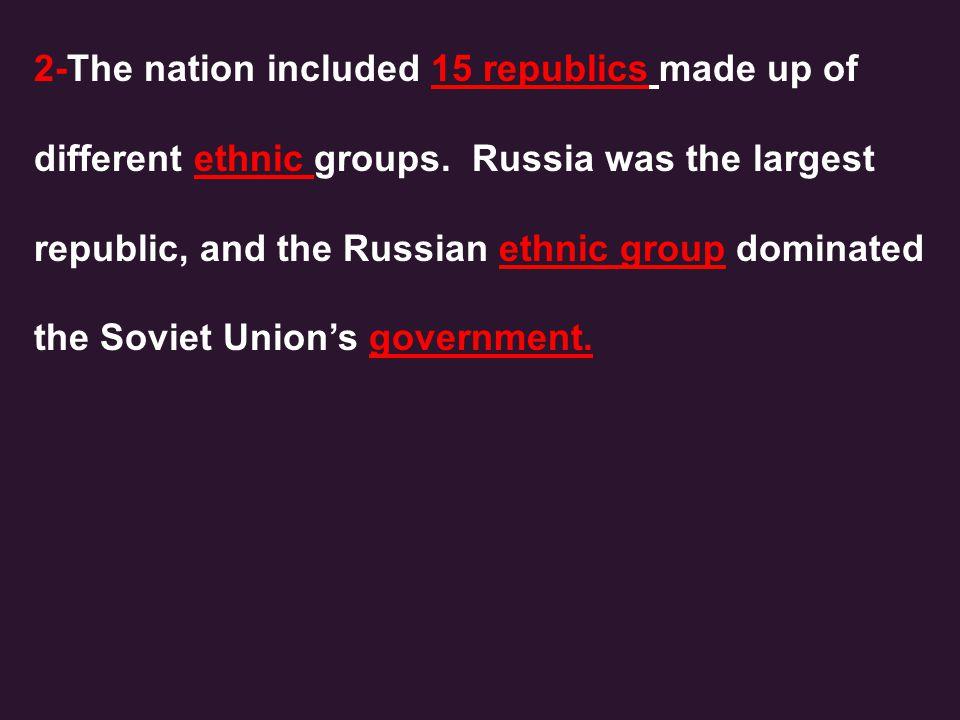 3- Vladimir Lenin and followers followed the ideas of Karl Marx.