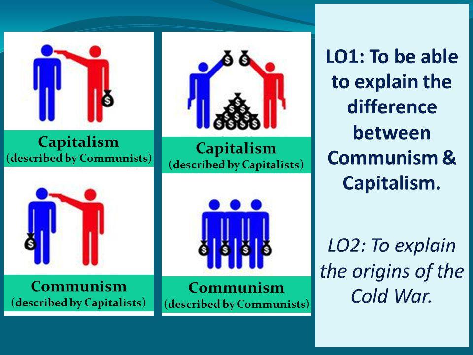 Capitalism (described by Communists) Communism (described by Capitalists) Capitalism (described by Capitalists) Communism (described by Communists)