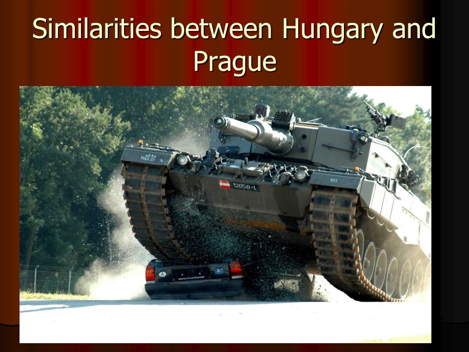 Similarities between Hungary and Prague