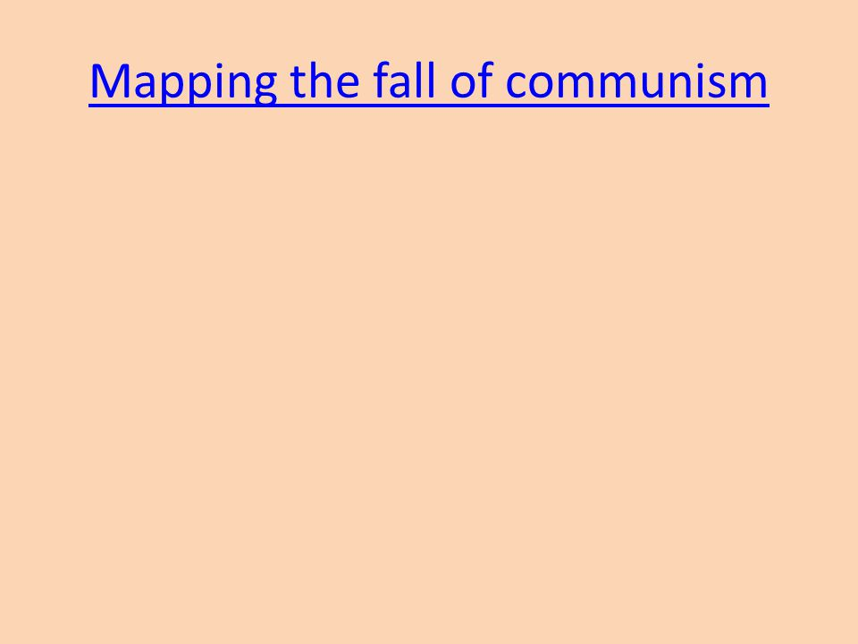 Mapping the fall of communism