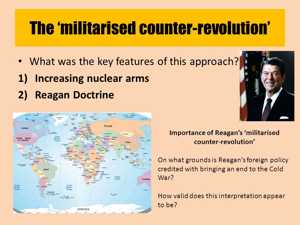 The 'militarised counter-revolution' What was the key features of this approach.