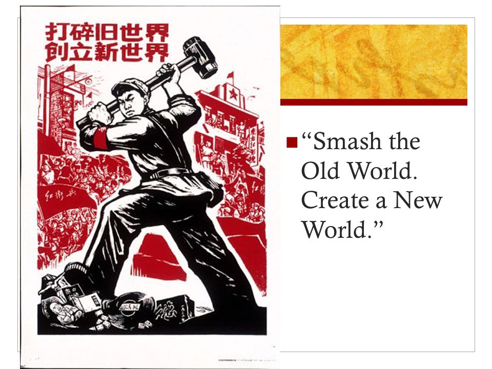 """Smash the Old World. Create a New World."""