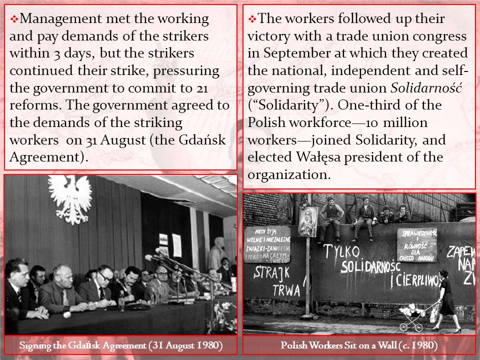  Management met the working and pay demands of the strikers within 3 days, but the strikers continued their strike, pressuring the government to comm