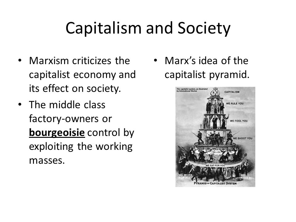 Capitalist Production and Social Class The Proletariat being exploited.