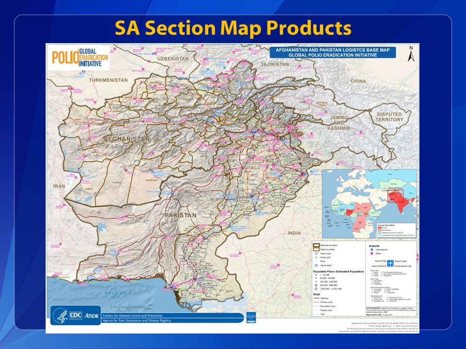 SA Section Map Products