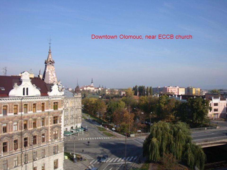 Downtown Olomouc, near ECCB church