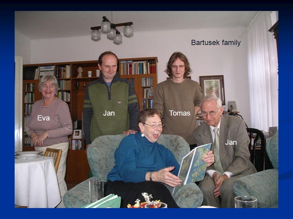 Eva Jan Tomas Bartusek family