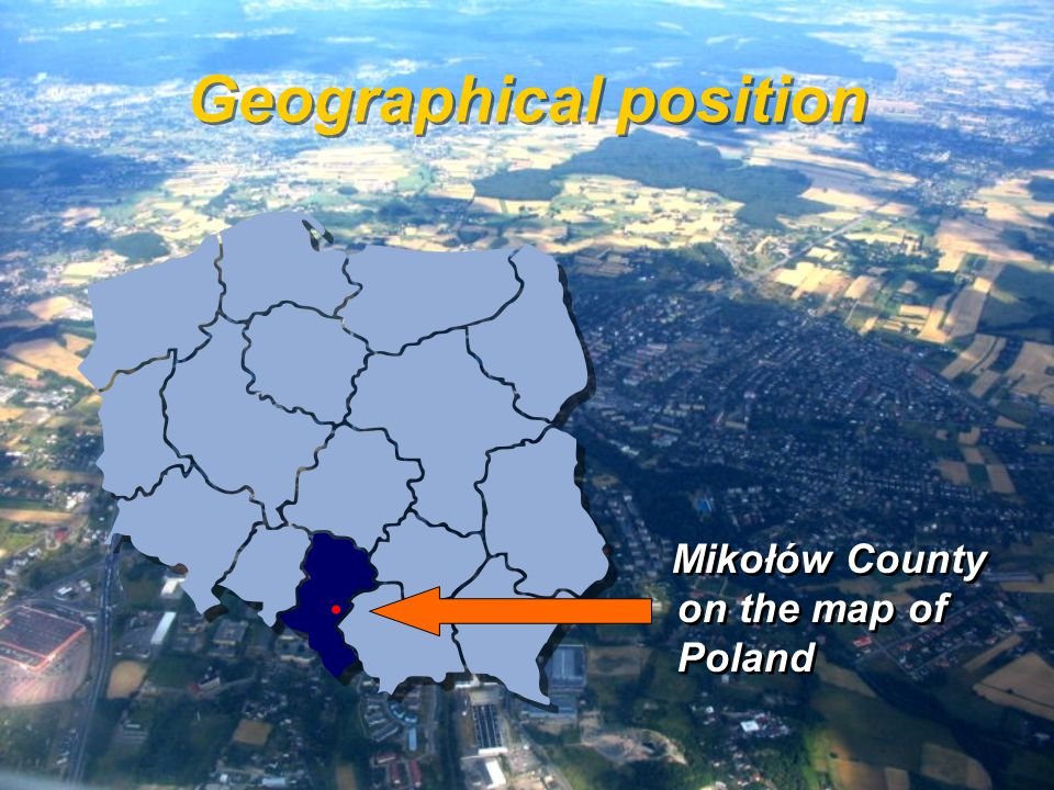 Geographical position Mikołów County on the map of Poland