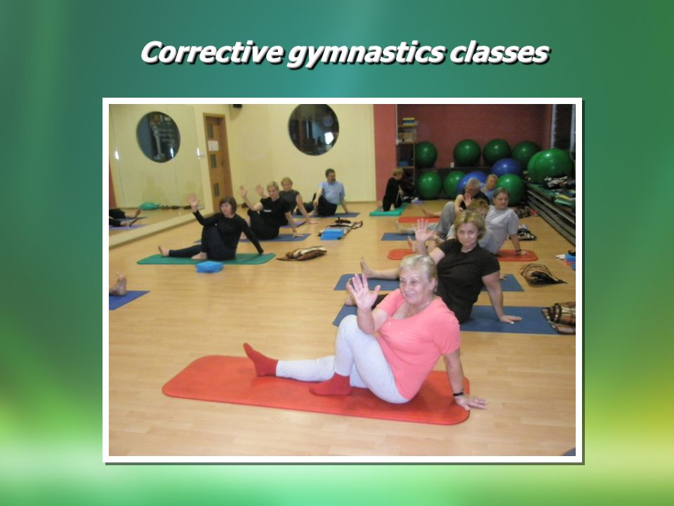 Corrective gymnastics classes