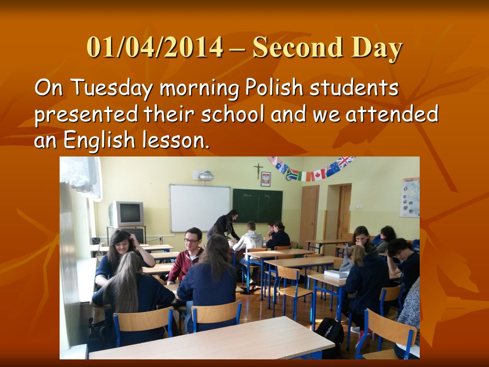 01/04/2014 – Second Day Then we had a walk around Rybnik: we visited the Main Square, the S.