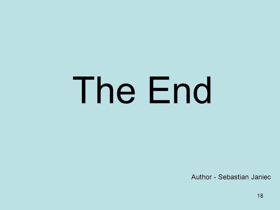 18 The End Author - Sebastian Janiec