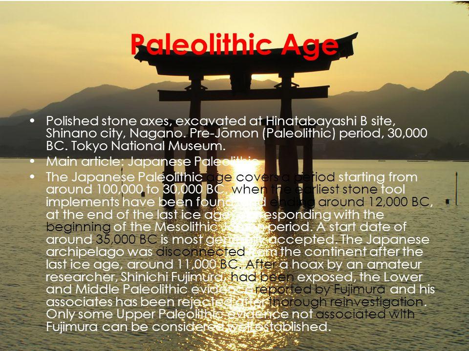 Paleolithic Age Polished stone axes, excavated at Hinatabayashi B site, Shinano city, Nagano.