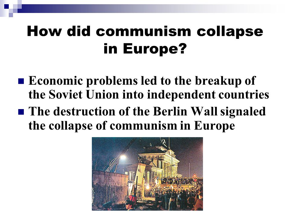 How did communism collapse in Europe.