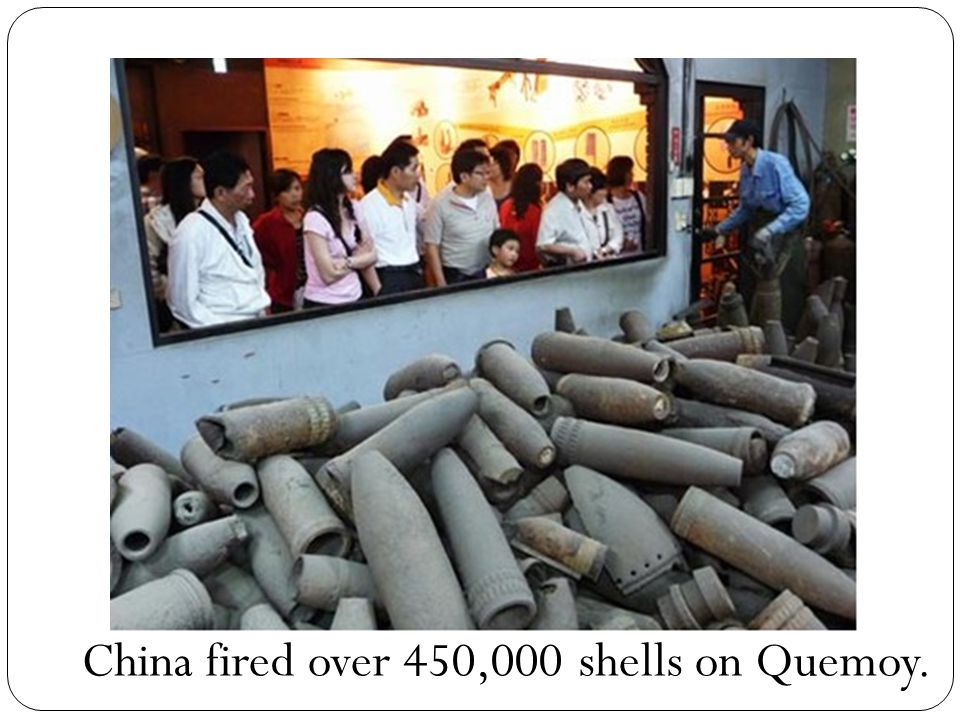China fired over 450,000 shells on Quemoy.