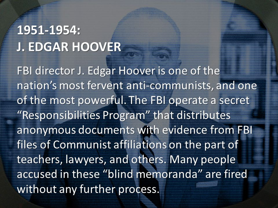 : J. EDGAR HOOVER FBI director J.