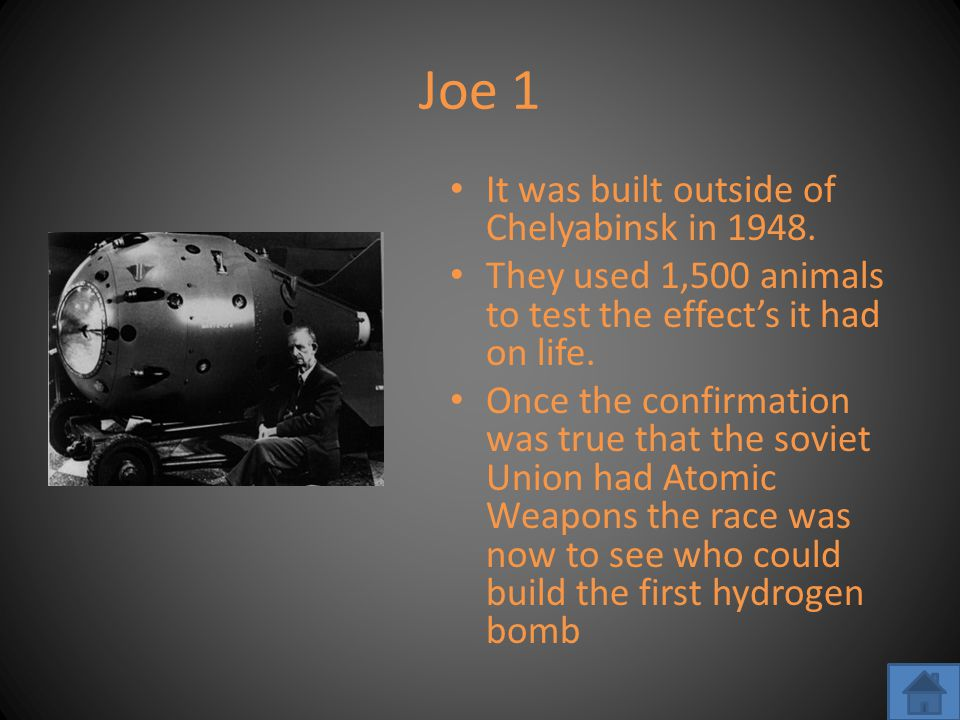 Joe 1 It was built outside of Chelyabinsk in 1948.